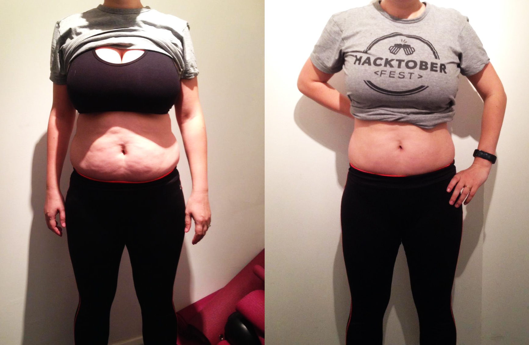 Personal training before and after body transformation 2
